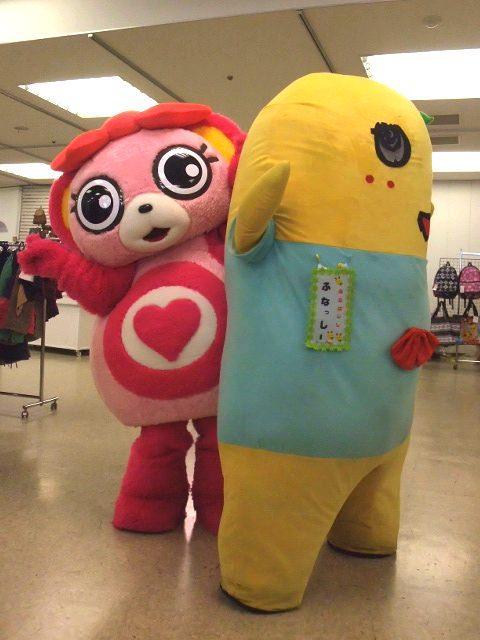 ノン子&ふなっしーでダンス 2[ご当地キャラ忘年会2012]