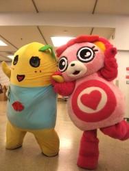 ノン子&ふなっしーでダンス 1[ご当地キャラ忘年会2012]