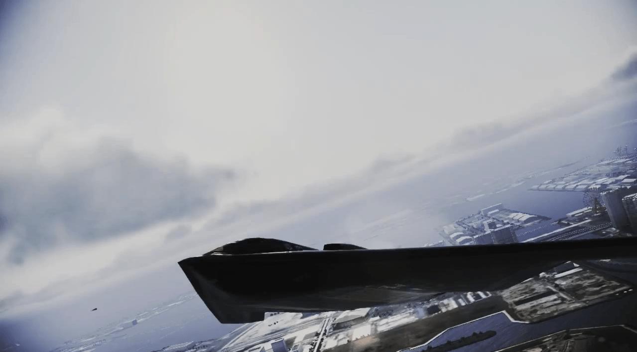 特異なフォルムの機体[エースコンバット インフィニティ]