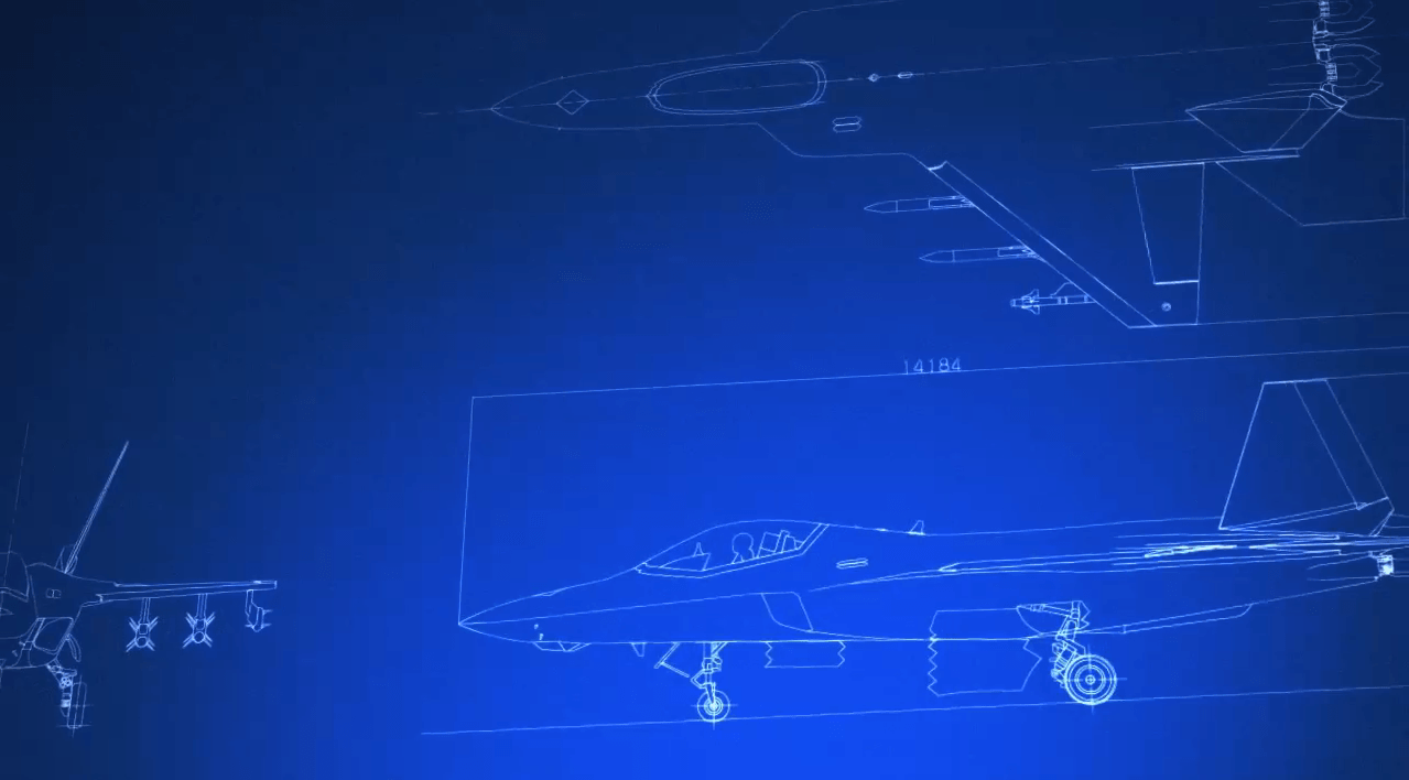 「ATD-X 心神」三面図 4[エースコンバット インフィニティ]