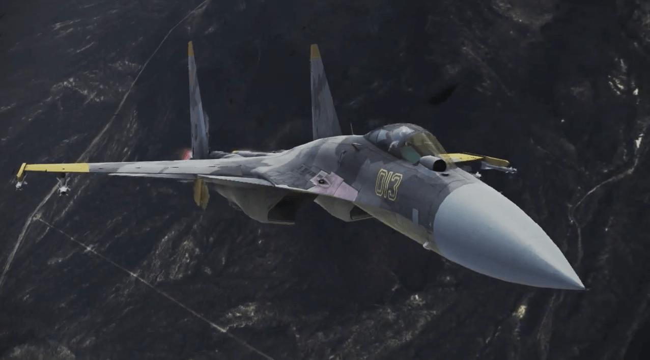 Su-37(?)黄色中隊カラー[エースコンバット インフィニティ]