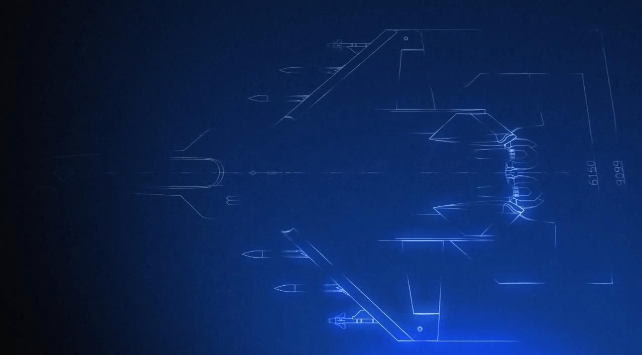 「ATD-X 心神」三面図 3[エースコンバット インフィニティ]