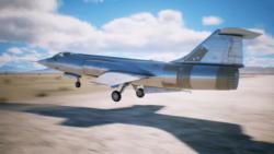 離陸する、スターファイターと思しき機体[エースコンバット7]