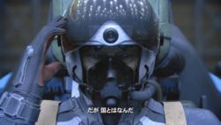 老兵の顔のアップ[エースコンバット7]
