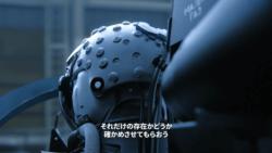 ヘルメットから伸びる複数のケーブル[エースコンバット7]