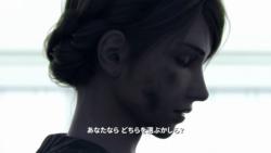 打ち拉がれたような女性の横顔[エースコンバット7]