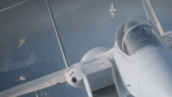 F-15に迫る無人機の姿を拡大[エースコンバット7]