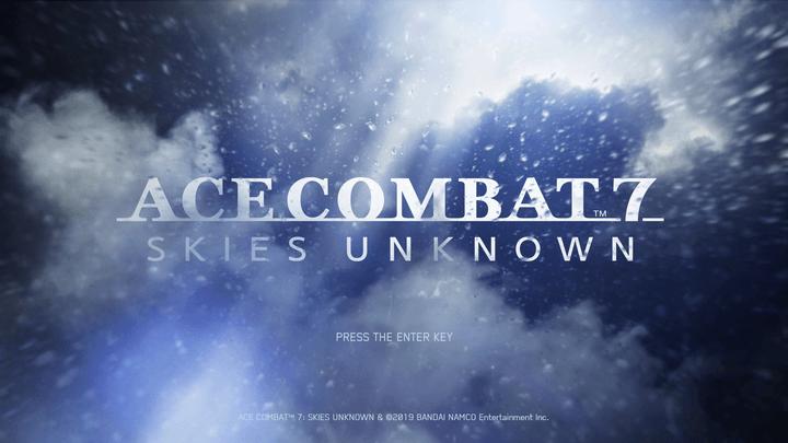『エースコンバット7』タイトル画面